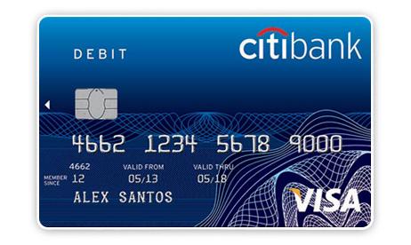 Дебетовая карта от Citibank